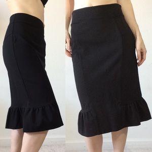 Diane Von Furstenberg Skirts - Diane Von Furstenberg Black Fishtail Kick Skirt